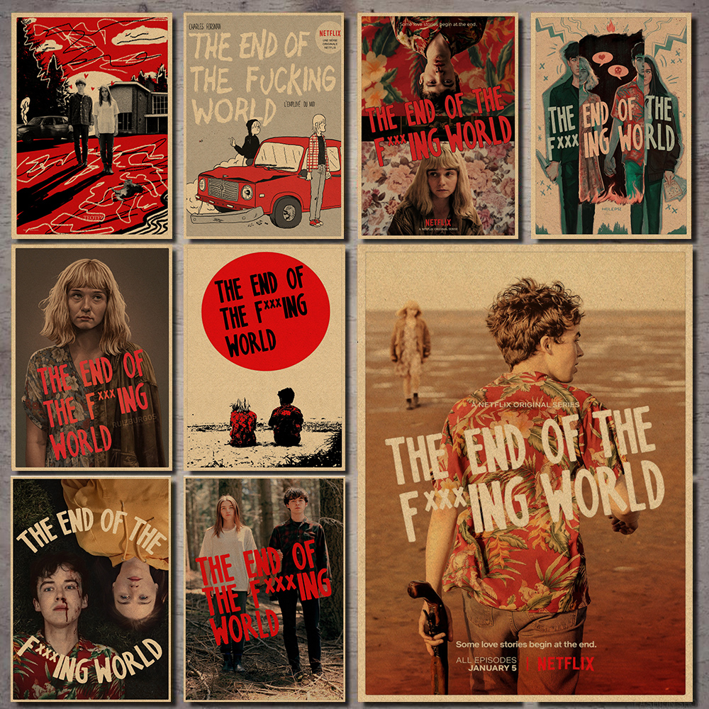 New Vintage Poster The End Of The F***ing World TV Series Wall Art Painting Print On  Poster Home Decoration 30*21cm