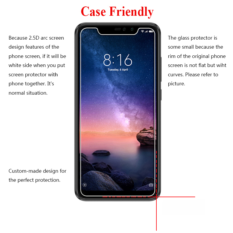 Image 5 - Glass Protective On For Xiaomi Redmi Note 7 6 5 Pro 4 Tempered Glas Note7 Note5 Note4 Ksiomi Xiaomei Xiomi Screen Protector Film-in Phone Screen Protectors from Cellphones & Telecommunications