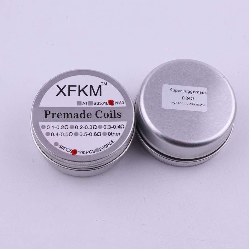 XFKM Ni80 Heating Wire Prebuilt coil Clapton Super Juggernaut alien coil For RTA RDA RBA Atomizer Tank 100 coils/ box demon killer violence coil 7 in 1 coil prebuilt coils alien v2 tsuka coil clapception framed clapton for rda rba atomizer tank