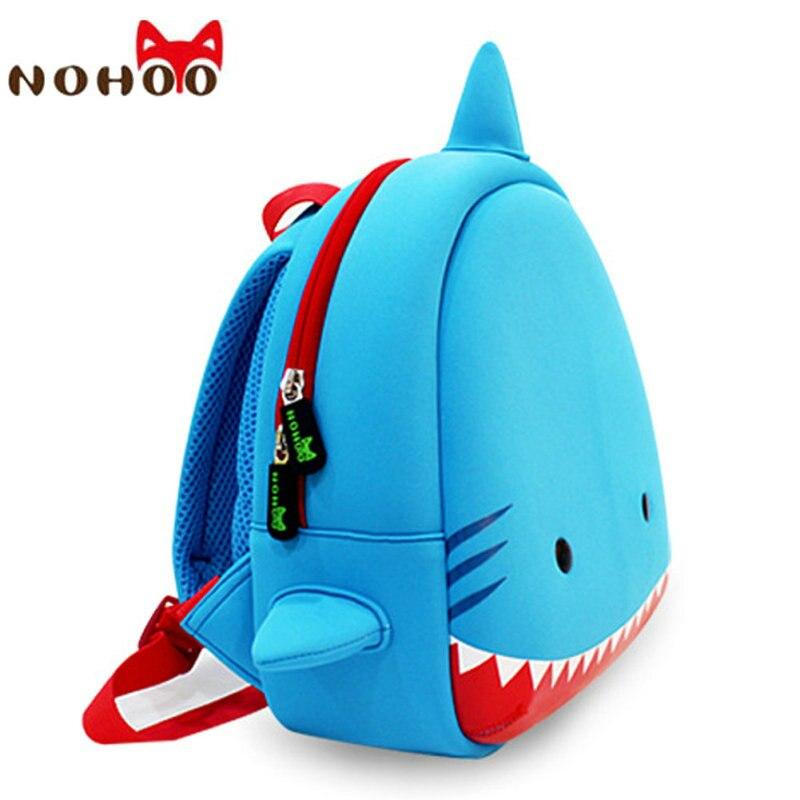NOHOO Shark Kids School Bags Waterproof Children Backpacks 3D Cartoon Book Bag Neoprene Cartable Ecole For Girls Boys 3-7 Age-40