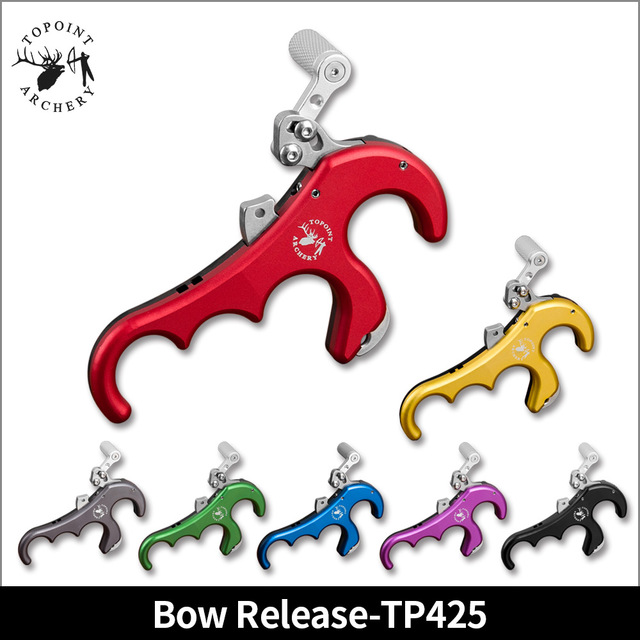 Topoint Archery TP425 bow release 4Finger release Aluminum Release Aid Automatic Archery Caliper Release for target compound bow