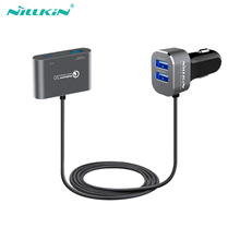 Nillkin 4 ports dual USB car charger adapter charger micro Type-C car charger for xiaomi for Google for huawei for sansung zuk