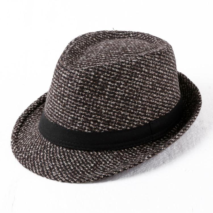 Intellective Jazz Hat Woolen Texture European Style Fisherman's Cap Men's Euramerican Fabric Gentlemen's Hat C917 Possessing Chinese Flavors