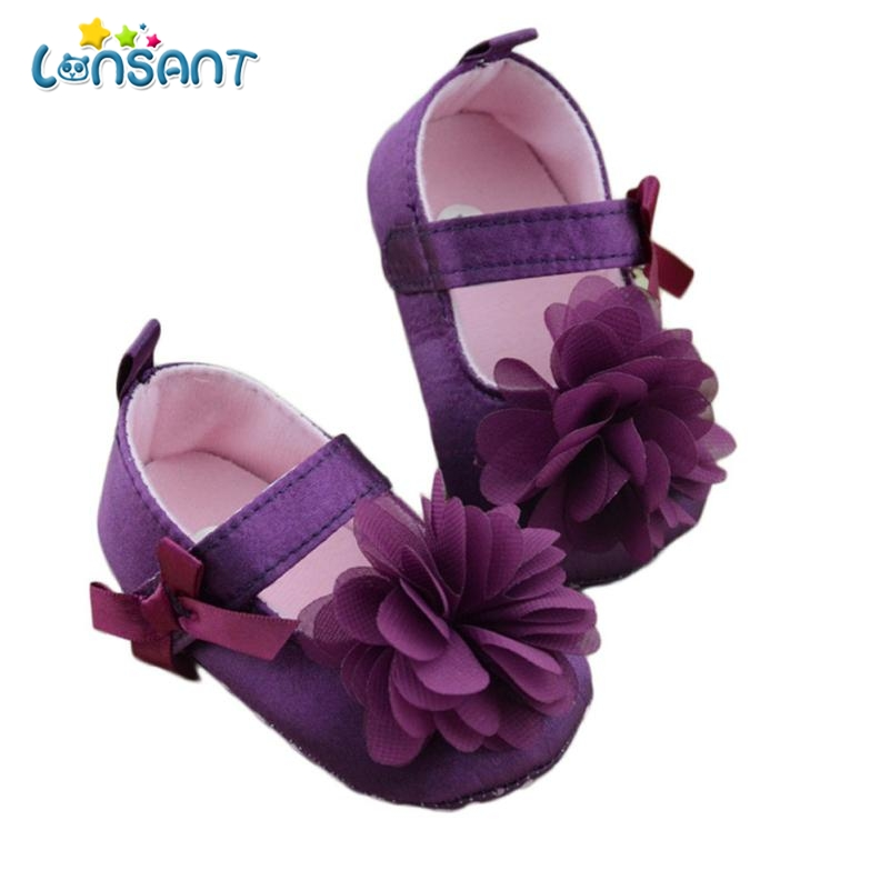 LONSANT 2018 Toddler Kids Girls Shoes Bowknot Flower Sole Walking Shoes E1120