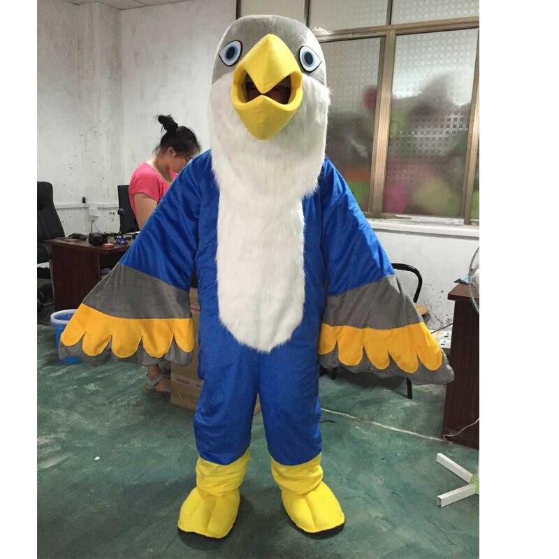 Costume de mascotte d'aigle et mascotte d'oiseau adulte