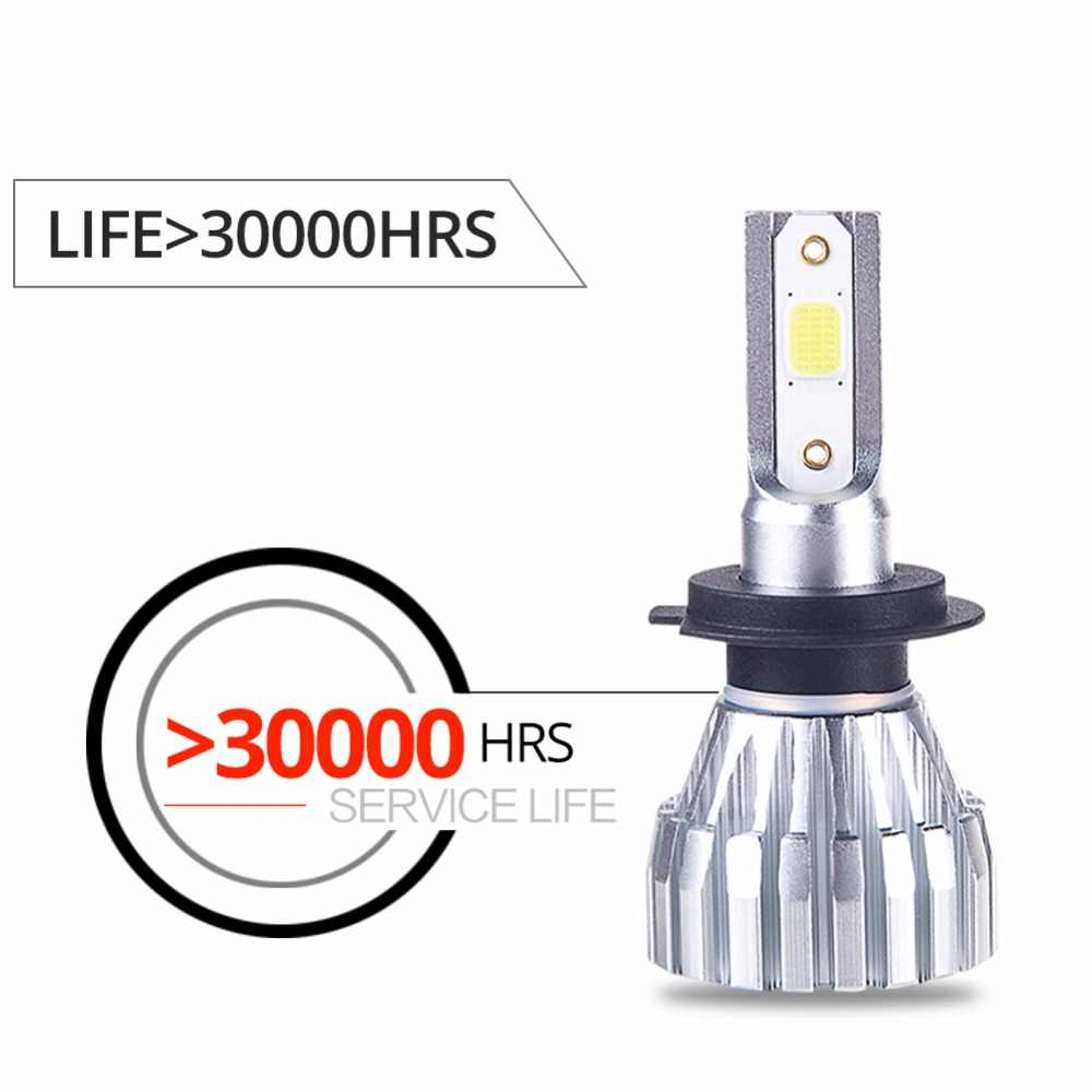 Foxcncar H7 LED H1 H3 H11 H4 Led H7 Bulb Car Headlight High Low Beam 50W 5000LM 12V 24V Fog Light 4300K 6500k 9005 9006 Fanless