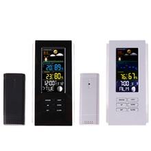 Buy online Wireless Weather Station Temperature Humidity Meter Sensor Hygrometer Digital Thermometer LED backlight Clock Indoor/ Outdoor