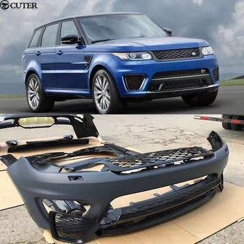 SVR style Car body kit PP Dipinto paraurti anteriore paraurti posteriore minigonne laterali Rotondo sopracciglia per la Range Rover Sport 14 -17
