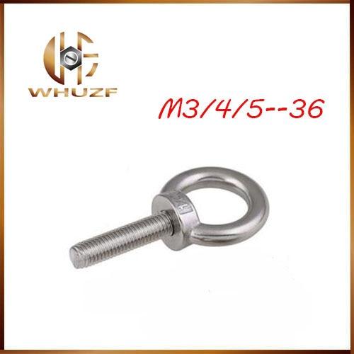 Eye bolt ring 304 Metric Thread M3 M4 M5 M6 M8 M10 M12 M16 M18 M20 M24 Lifting Bolt Eye Hook Bolts Shouldered Lifting eye ring eye bolt m3 4 5 6 8 10 12 14 16 36 304 stainless steel lifting eye bolt round ring hook bolt