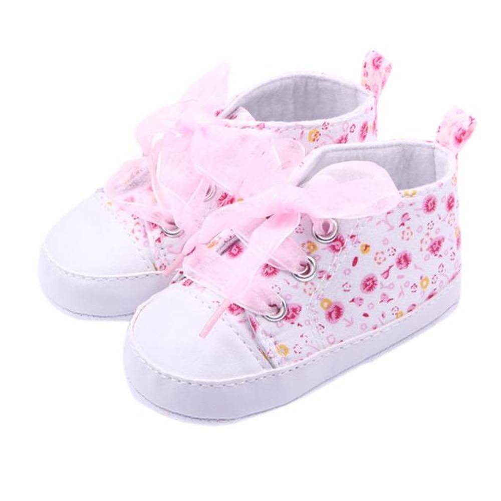 SAGACE 2018 Hot Girls Floral Soft Soled Shoe Infant Toddler Walking Sneaker Girls Kids Crib Lace Up Shoes boys Baby Shoes