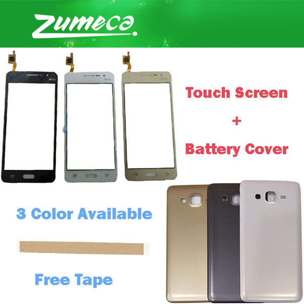 For Samsung Galaxy Grand Prime G530 SM-G530H SM-G531H Samsung G530 Touch Screen Digitizer Lens+Battery Cover Housing Case +Tape