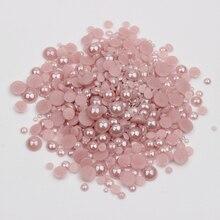 Новинка! Керамические стразы разных размеров, фиолетовые полукруглые жемчужины 1000 шт./лот для украшения для ногтей, одежды