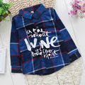 Baby Boys British Plaid Shirt Boy Girl Classic London Style Blouse Kids Children Spring Autumn Tops 2017 New Fashion