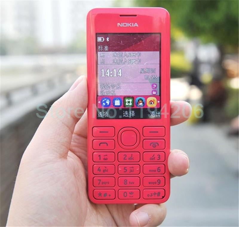 new smart phone Nokia 206 2060 2G GSM 1.3MP 1100mAh Unlocked Cheap Celluar Phone dual sim card blue 2