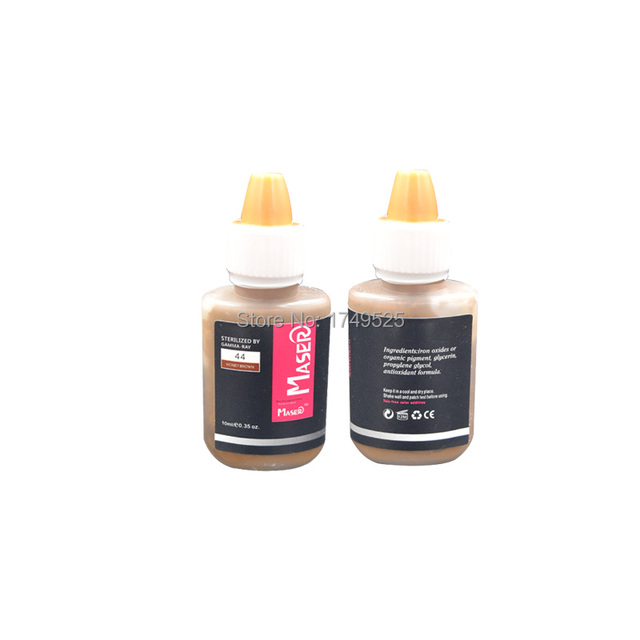 1 pcs Garrafa 44 MEL MARROM 10 ML Biomaser profissional maquiagem permanente lábio sobrancelha tatuagem tinta pigmentada micro