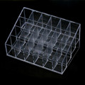 Cosmetic Holder Generic 24 Stand Trapezoid Clear Lipstick Lotion Makeup Display Stand Storage Estuche Escolar #5113