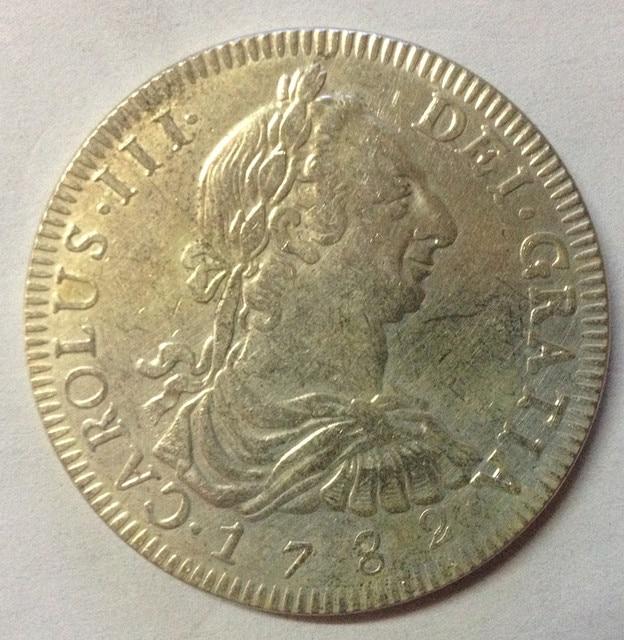1782 Bolivia  8 Reales - Carlos III COPY COIN