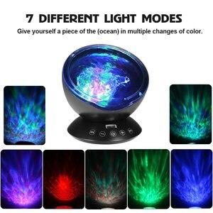 Image 3 - Ocean Wave Starry Sky Aurora LED Night Light Projector Luminaria Novelty Lamp USB Lamp Nightlight Illusion For Baby Children