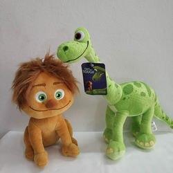 Original bom dinossauro brinquedos de pelúcia 20cm ponto menino e 30cm dinossauro arlo recheado boneca macia para crianças presente aniversário