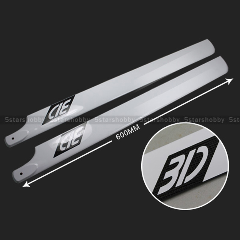 600MM Carbon Fiber Main Rotor Blade For T REX 600RC Helicopter