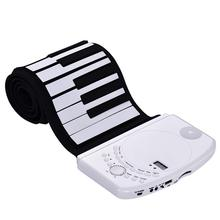 61 Keys Roll Up Piano Digital Piano Keyboard Electronic Recharge Battery Standard Piano Tone недорого