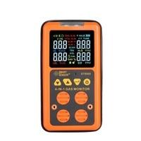 ST8900 4 в 1 цифровой детектор газа O2 H2S CO НПВ Ручной мини газоанализатор Air монитор газ детектор протечек углерода окись метр