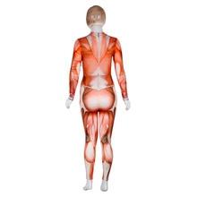 2018 Halloween theme Jumpsuit High Neck terror Muscle man's internal organs Bodysuit Women Halloween Night Club Wear