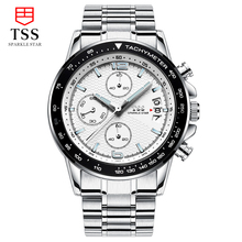 TSS CARRERA Calibre Heuer 01 TACHYMETER Chronograph watches men luxury brand Men's outdoor watch stainless steel white dial