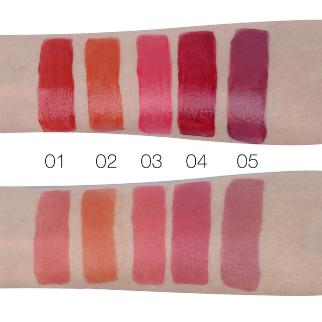 LIPHOP ICE CREAM Long-Lasting Lip Tint 5 Colors Liquid Lipstick Batom Rouge A Levres Labial Matte Lip Gloss Sexy Tattoo Cosmetic 5