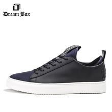 Spring And Summer Street Trend Shoes Color Matching Leather Comfortable Breathable Fashion Sports