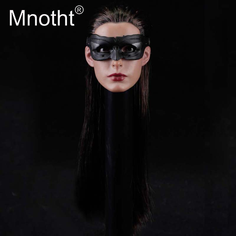 Mnotht Toys 1/6 Scale SO-017 Head Carving Model Anne Hathaway Catwoman Head Sculpt Model for 12 inches Action Figure Hobbies m3 все цены