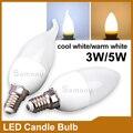 Vela levou Lâmpada E14 220 V Energia Salvando Spotlight Chandlier leitoso Ampola Bombillas 3 W 5 W Quarto Lâmpada Decoração Velas LED lâmpada