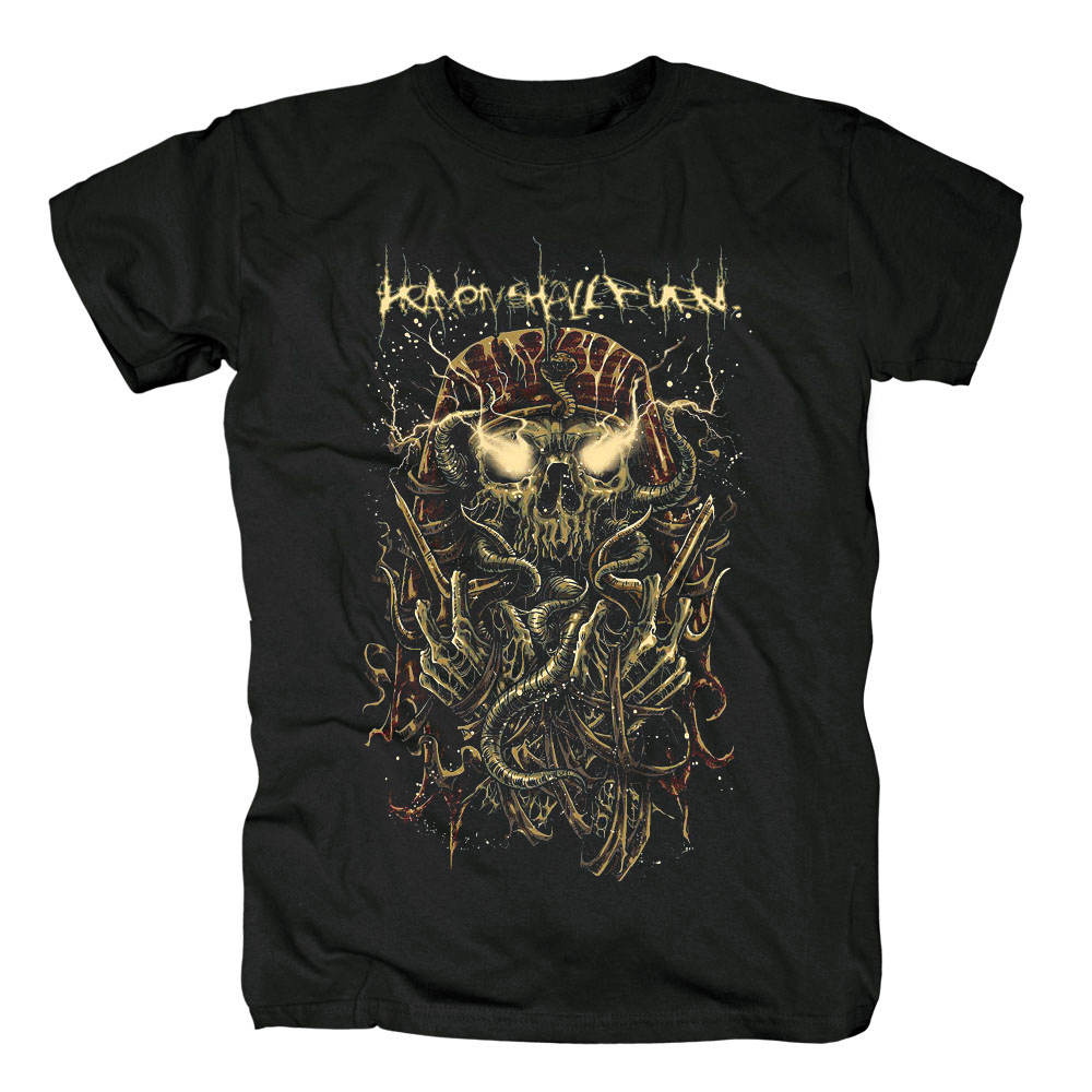 Free shipping Heaven Shall Burn Release Free shipping Mens Death metal hardcore Black T-shirt in summer