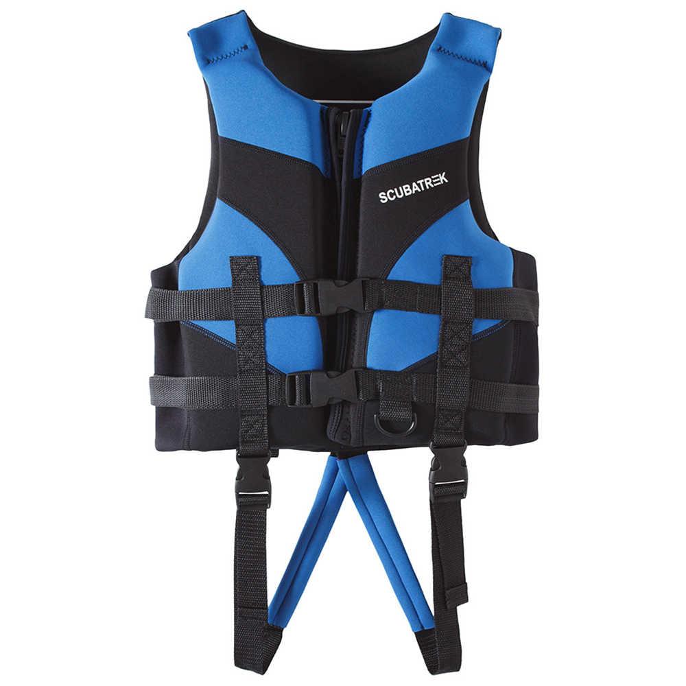 Kamizelka ratunkowa dla dzieci kamizelka ratunkowa dla dzieci sporty wodne pływanie żeglarstwo plaża Ski Drifting kamizelka ratunkowa S/M/L/XL niebieski/czerwony