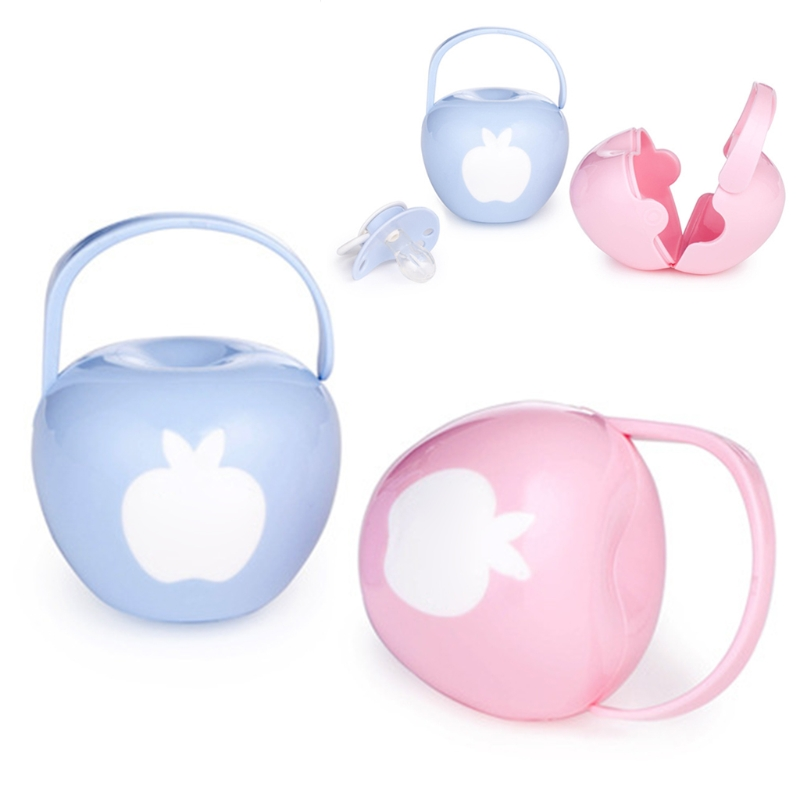 Portable Baby Infant Pacifier Nipple Travel Case Little Apple Shape Storage Box Baby Soother Container Holder Pacifier Dummy Box