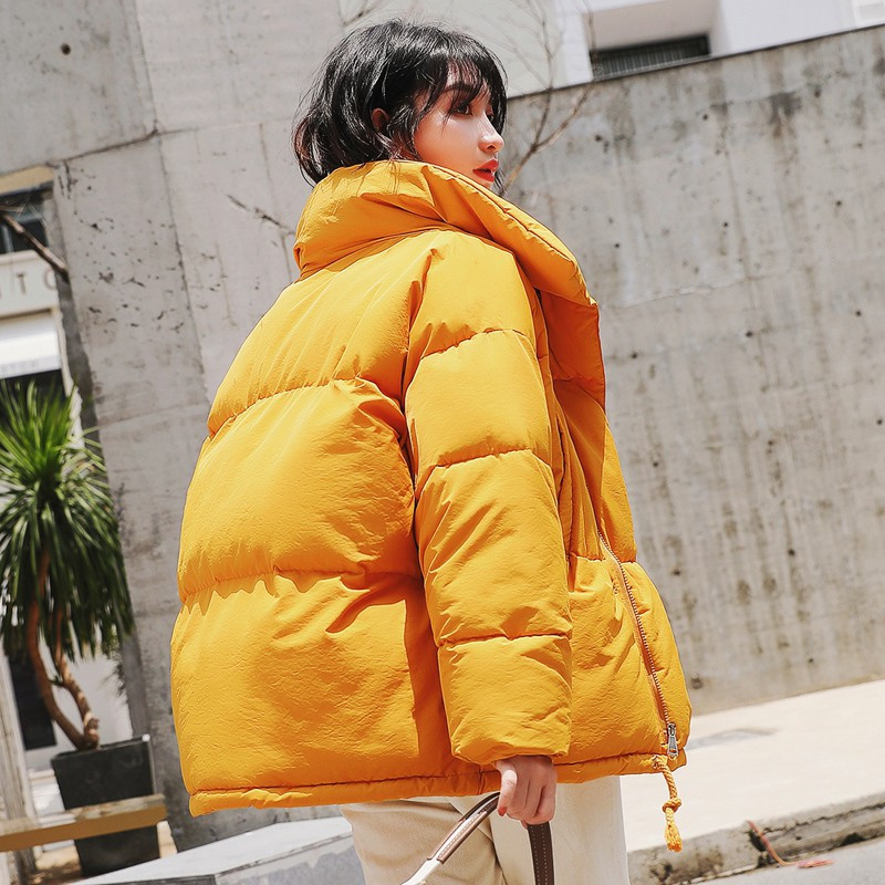 Autumn Winter Jacket Women   Parka   Down Cotton Thicken Short Jacket Coat Oversized Long Sleeve Outerwear Ladies Tops Jacket Q601