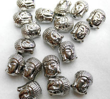 50pcs 10x14mm Mestal skull spacer bead skeleton buddha charm beads hematite silver gold matte mixed Tone 3D Fitness Charm connec