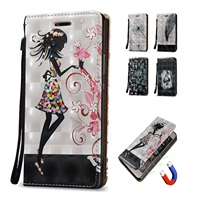 3D Magnetic Leather Cover Flip Case For Samsung Galaxy A3 2015 A300 A300F Case With Stand