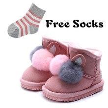 Las botas de invierno zapatos de princesa zapatos de bebé botas de nieve de  cuero de alta calidad botas de fieltro de pelo de co. 0dbe5694fbc