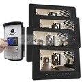 DIYSECUR 7 дюймов Видео-Телефон Двери Дверной Звонок Главная Безопасность Домофон RFID LED Ночного Видения Камеры RFID 1 В 4