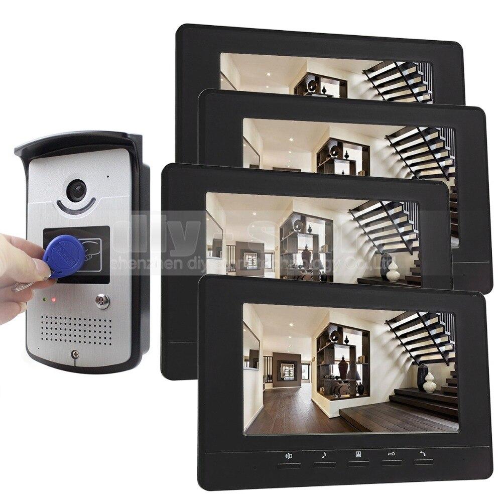 DIYSECUR 7 inch font b Video b font Door Phone Doorbell Home Security Intercom System RFID