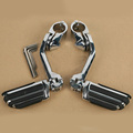 "New Long Highway Foot Pegs For Harley Electra Road King Street Glide 1-1/4"" Bars"
