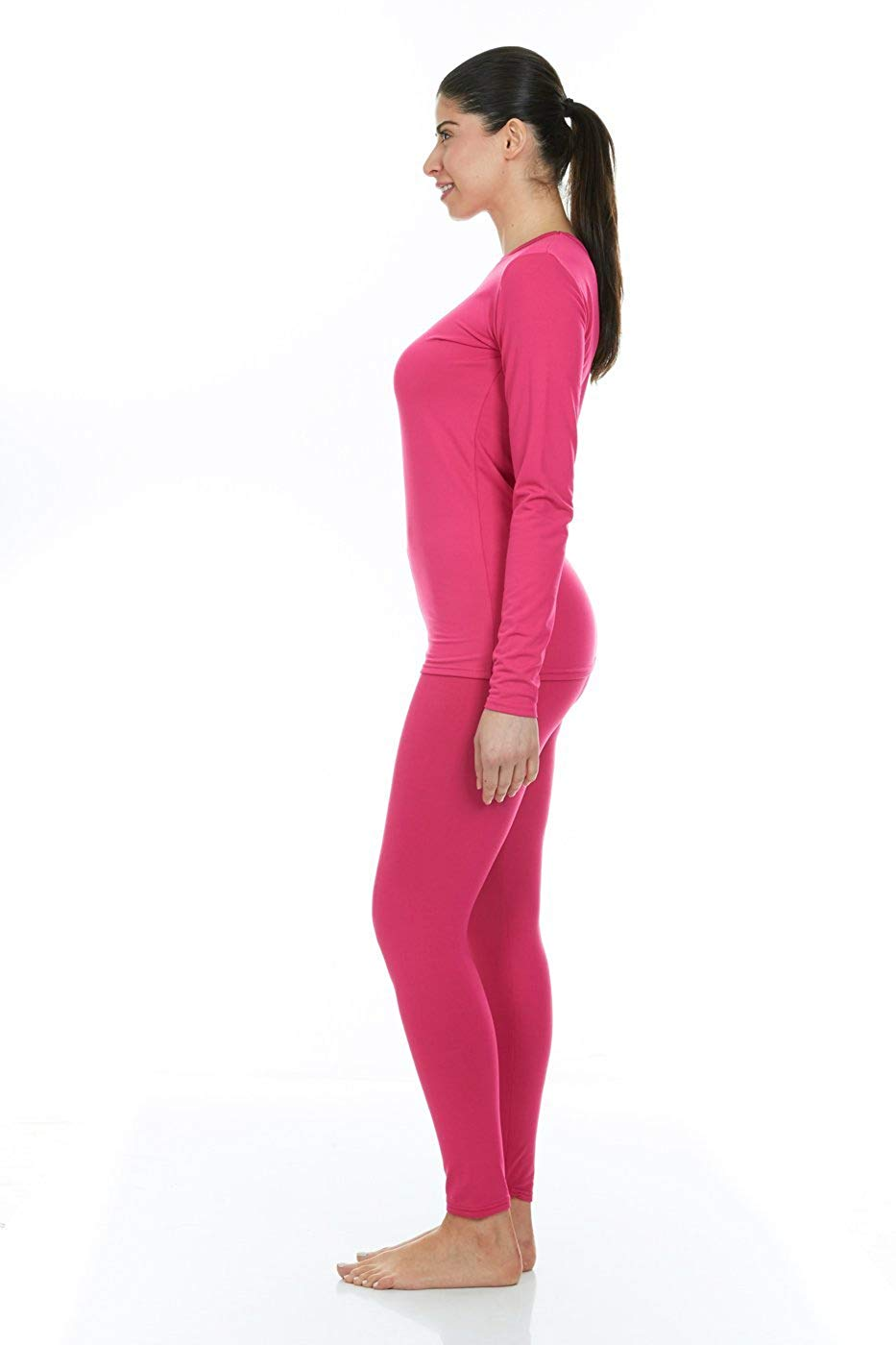 Women s Ultra Soft Thermal Underwear Long Johns Set with Fleece Lined