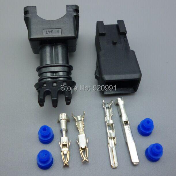 Shhworldsea 282762-1 Мужской Женский 3,5 мм EV1 топлива заглушка инжектора насадка автомобили Водонепроницаемый 2 Pin Путь Отсоединяемый провод авто разъемы
