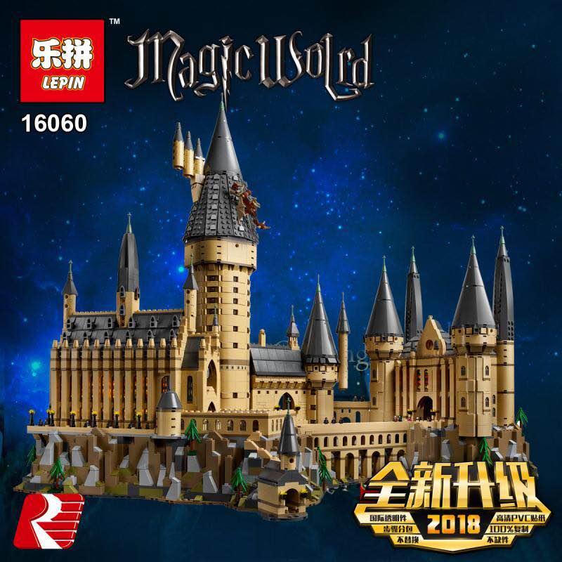 LEPIN 16060 6742 pcs Harry Magique Potter Poudlard Compatible Legoing 71043 Blocs de construction Briques Enfants Éducatifs BRICOLAGE Jouets
