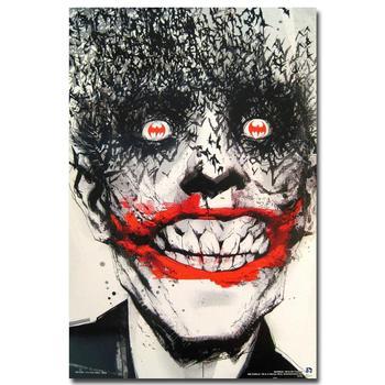 Плакат гобелен шелковый Джокер арт