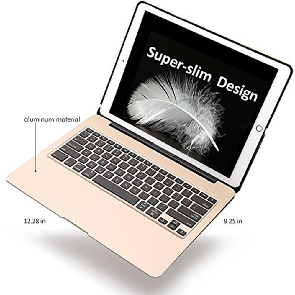 Aluminium Bluetooth Keyboard Case voor iPad Pro 12.9 Model A1584/A1652/A1670/A1671 Slanke Beschermhoes met 7 kleuren Backlit - 6