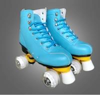 Spor ve Eğlence'ten Paten Ayakkabıları'de 6 renk Yeni Yetişkin Çift sıralı paten Dört tekerlek paten Yetişkin Erkek ve kadın açık Paten ayakkabı