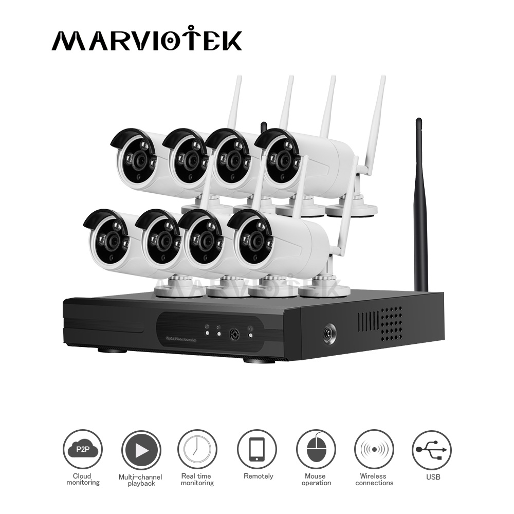 8 Channel Video Surveillance 720P Security Camera System IP Camera wifi NVR Kit Wireless Waterproof CCTV Camera System Outdoor8 Channel Video Surveillance 720P Security Camera System IP Camera wifi NVR Kit Wireless Waterproof CCTV Camera System Outdoor