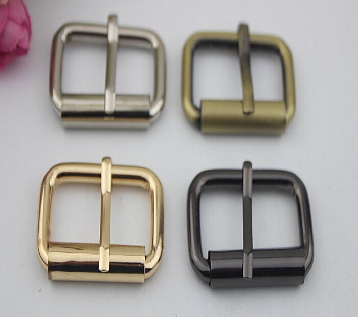 (20 PCS/lot) 4 Color High Quality Inner Diameter 3.2 Cm Square Hardcore Straps Pull Pin Buckle Handbags Diy Metal Accessories